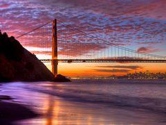 Golden Gate Sunrise by <b>JeffSullivanPhotography</b> ( a Panoramio image )