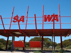 SA-WA border sign by <b>dirkus49</b> ( a Panoramio image )