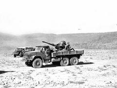 Qala-e-Naw. Cannon & truck. Калай-Нау. Аэродром. ЗУ-23-2. Колёсн by <b>Сургуль</b> ( a Panoramio image )