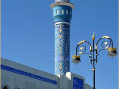MASQAT mosque minaret and gold lampe by <b>patano</b> ( a Panoramio image )