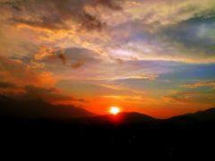 Magical Sunset from Swayambhu Nepal  by <b>Sanjaya poudyal *sp*</b> ( a Panoramio image )