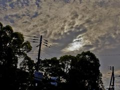 ??? ?? the Moon passing in front of the Sun.(7:11 Osaka,JPN) by <b>miyo0117</b> ( a Panoramio image )