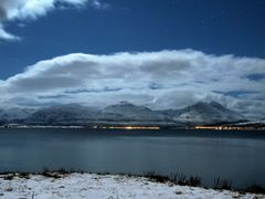 The view south from Tromsoe - nightshot w stars 200108 by <b>Snemann</b> ( a Panoramio image )