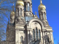 Russian-orthodox church above Wiesbaden by <b>Jurgen Weighardt</b> ( a Panoramio image )