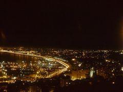 """Vue d""""Alger nocturne avec deux esprits ascendants (Juillet 1989) by <b>Igor Malko</b> ( a Panoramio image )"""