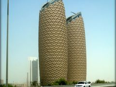 """The Coccoons""/ADIC HQ. in Abu Dhabi  ....{by Bassam} by <b>~Bassam</b> ( a Panoramio image )"