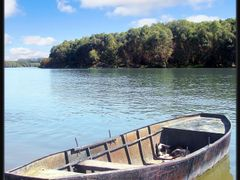 Old boat and a sleepy dog by <b>Macfish</b> ( a Panoramio image )