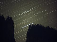 Startrails & Gorge by <b>jankovoy</b> ( a Panoramio image )
