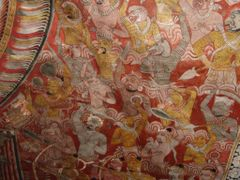 painting on the ceiling - it describes the way of Mara (King of  by <b>world of pictures by KlausH</b> ( a Panoramio image )