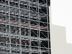A Unique View: As the external cladding goes on the interior of  by <b>Ian Stehbens</b> ( a Panoramio image )