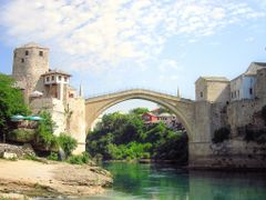 Stari most,  Mostar...Old Bridge in Mostar by <b>Haris...</b> ( a Panoramio image )