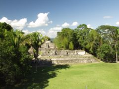 BELIZE: XUNANTUNICH: view from Structure A1 north to A13 and A11 by <b>Douglas W. Reynolds, Jr.</b> ( a Panoramio image )