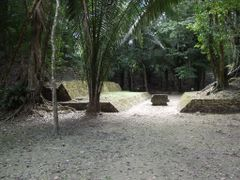 "BELIZE: LAMANAI: Ballcourt (with ""largest known ballcourt marker by <b>Douglas W. Reynolds, Jr.</b> ( a Panoramio image )"