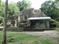 BELIZE: LAMANAI: Mask Temple [Structure N9-56] by <b>Douglas W. Reynolds, Jr.</b> ( a Panoramio image )
