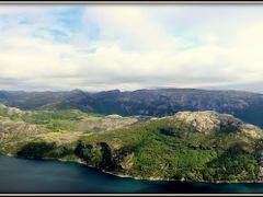Panorama Lysefjorden from Preikestolen by <b>Pontecaffaro</b> ( a Panoramio image )