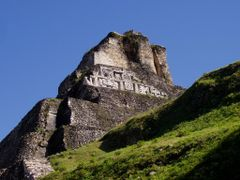 "Xunantunich: ""El Castillo"" [Structure A6], west frieze by <b>Sheila M. Reynolds</b> ( a Panoramio image )"