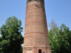 Kyrgyzstan, Uzgen, minaret and mausoleum of 11-12 centuries / Кы by <b>Vladimir Kharitonov</b> ( a Panoramio image )