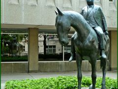 Businessman on a Horse (1989) by William McElcheran   by <b>Tomros</b> ( a Panoramio image )