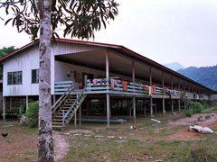 Serawak:  Mulu National Park Longhouse by <b>Henk van Es</b> ( a Panoramio image )