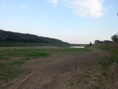 р.Урал в период падения уровня воды by <b>IvanchM</b> ( a Panoramio image )