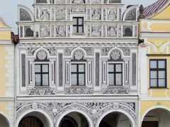 Arkados epulet sgraffito diszitessel Telc / It is a buildig with by <b>Elemer</b> ( a Panoramio image )