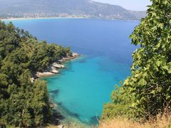 Thasos - Chrisi Ammoudia (from a distance) by <b>Petros Kalaitzis</b> ( a Panoramio image )