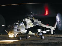 BAF MI 24 before night flight. Weapons on. by <b>?GAMBRINUS??</b> ( a Panoramio image )