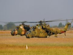 BAF MI 24 trainings without weapons. by <b>?GAMBRINUS??</b> ( a Panoramio image )