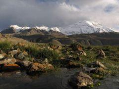 North Muztagh Ata (7184) in evening by <b>www.turclubmai.ru</b> ( a Panoramio image )
