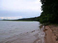 Sandy lake shore at Huuhanranta (Lake Saimaa, Ruokolahti, 201208 by <b>RainoL</b> ( a Panoramio image )