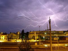 Strong Thunderstorm with great Lightning over Lake Murten by <b>Merz_Rene</b> ( a Panoramio image )