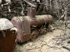"""What""""s a locomotive doing here? by <b>Johnnyonthespot</b> ( a Panoramio image )"""