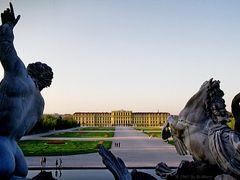 Wien, Vienna, Schloss Schonbrunn, view from Neptunbrunnen by <b>Merz_Rene</b> ( a Panoramio image )