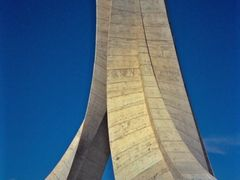 Algeria-A View of Martyr Monument (1987) by <b>Erol Barutcugil</b> ( a Panoramio image )