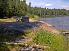 The swimming place of Lake Hyvikkaa (Lappeenranta, 20120803) by <b>RainoL</b> ( a Panoramio image )