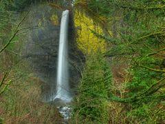 Latourell Falls Panoramic by <b>© Michael Hatten http://www.sacred-earth-studios.com</b> ( a Panoramio image )