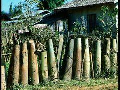 Reused Bomb Casings - Xieng Khouang, Laos - 1995 by <b>?k-cam</b> ( a Panoramio image )