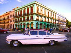 Habana Capitolio -  1959 Chevy 4 Dr. Impala - Los colores y los  by <b>Stathis Chionidis</b> ( a Panoramio image )