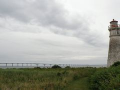 Cape Jourimain - Lighthouse and Confederation Bridge by <b>carlo bianco</b> ( a Panoramio image )