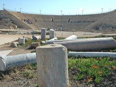 Roman theater, Caesarea, Israel by <b>kluke</b> ( a Panoramio image )