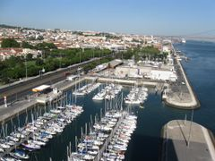 View from the top of the Monument to the Discoveries, Belem, Lis by <b>Lucien Kivit</b> ( a Panoramio image )