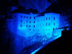 Blue color reflector at Predjama Castle by <b>Samo Trebizan</b> ( a Panoramio image )