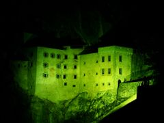 Yellow color light at Predjama castle by <b>Samo Trebizan</b> ( a Panoramio image )