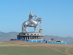 Chinggis statue is under construction by <b>prygoff</b> ( a Panoramio image )
