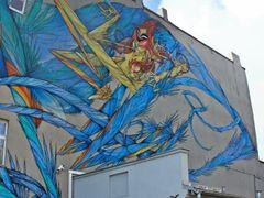 Mural z Galerii Urban Forms i Pomnik Zaglady Romow by <b>k_karasek</b> ( a Panoramio image )