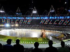"""2012 London Olympic Games opening ceremony... Olympic Stadium.. by <b>OLYMPIST ©</b> ( a Panoramio image )"