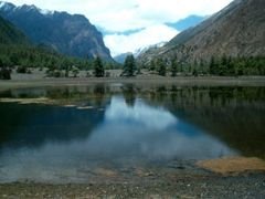 Chame to Hongde below Swargadwari lake delight by <b>Aditya Paranjape</b> ( a Panoramio image )