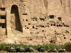 Where the Buddha once stood in Bamiyan by <b>© Morrique</b> ( a Panoramio image )