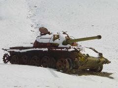 Tank Cemetery on the road to Jalalabad by <b>© Morrique</b> ( a Panoramio image )