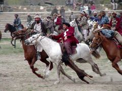 The first Buzskashi in Kabul in 2002 by <b>© Morrique</b> ( a Panoramio image )